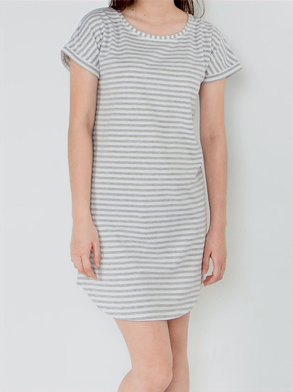 Ashlee Striped Lounge Dress
