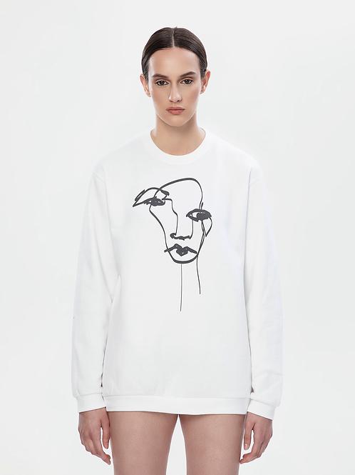 Unisex White Sweatshirt | The Kolorful Kreature