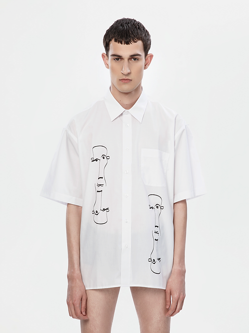 Limited Edition Oversized White Shirt | The Koin Kreature