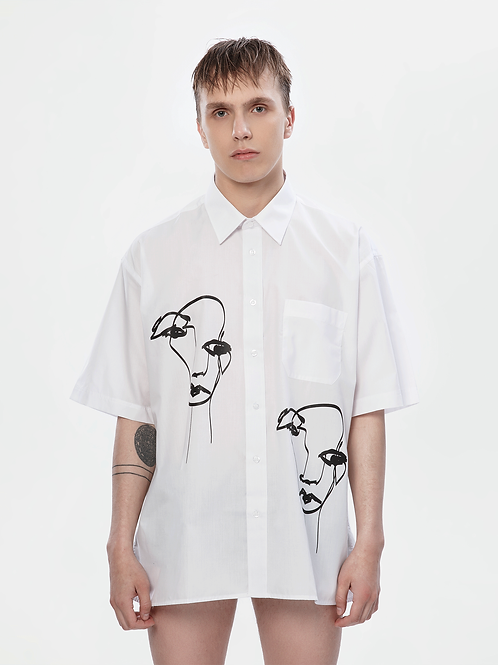 Limited Edition Oversized White Shirt | The Kolorful Kreature