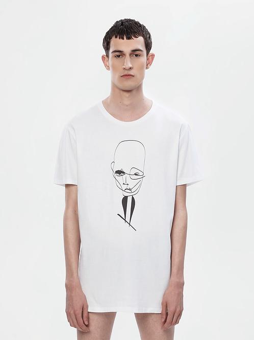 Unisex Longline White T-Shirt | The Klassical Kreature