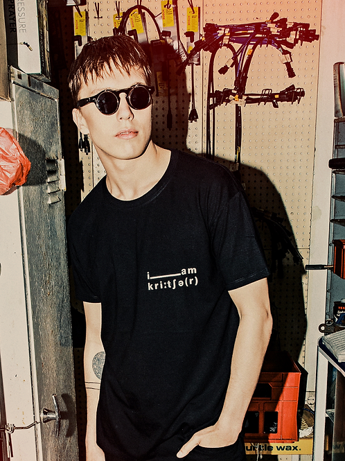 Unisex Black T-Shirt   i am kreature