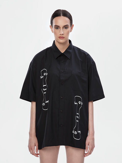 Limited Edition Oversized Black Shirt | The Koin Kreature