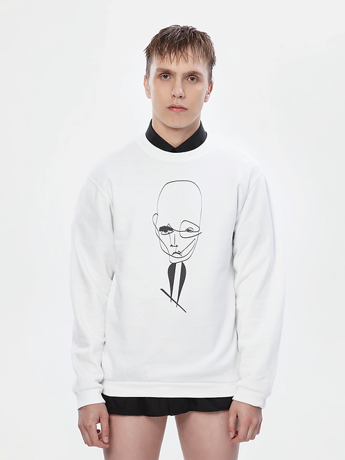 Unisex White Sweatshirt | The Klassical Kreature