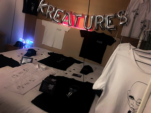 Kay Kreatures unisex clothing collection of T-shirts, sweatshirts, shirts and caps