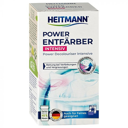 HEITMANN Power препарат за обезцветяване на боядисани дрехи, 250 г