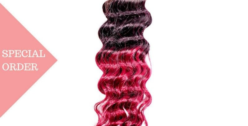 Raspberry Ombre Deep Wave 3 Bundle Deals + Closure