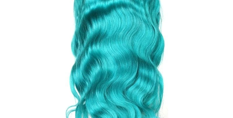 TEAL GODDESS LACE FRONT WIG