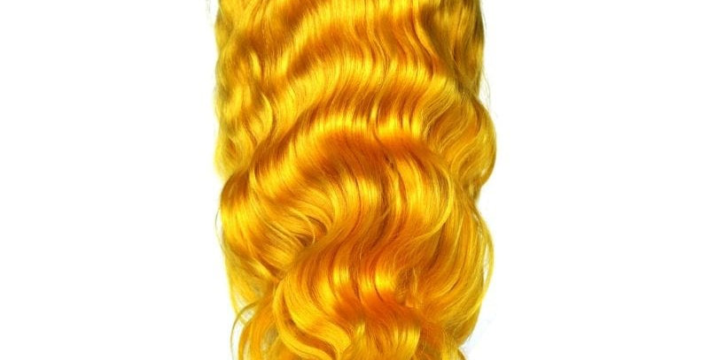 YELLOW FLAME FRONT LACE FRONT WIG