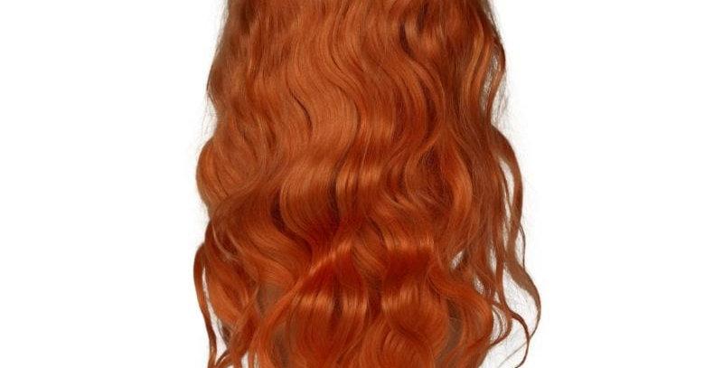 Neon Orange Front Lace Wig
