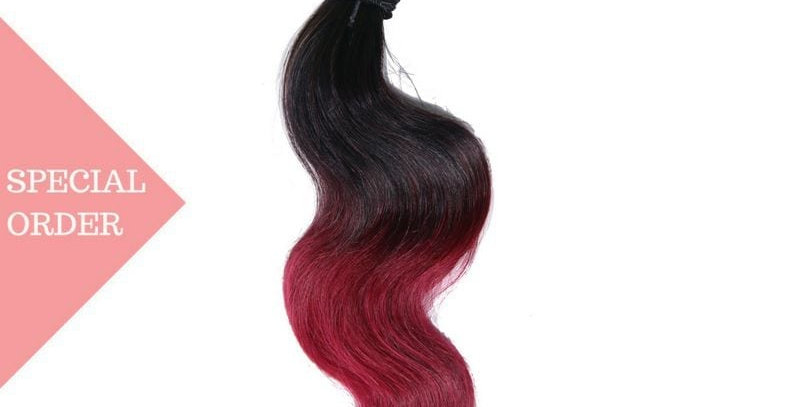 Raspberry Ombre Body Wave 3 Bundle Deals
