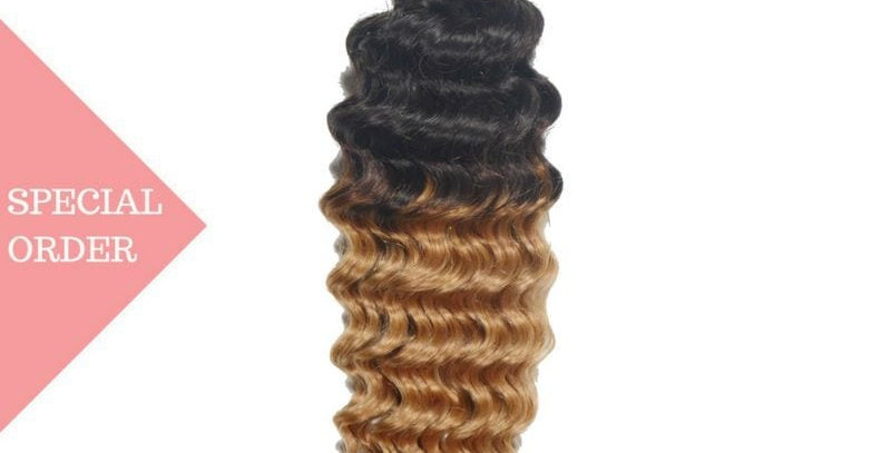 Honey Blonde Deep Wave Ombre Straight Bundles