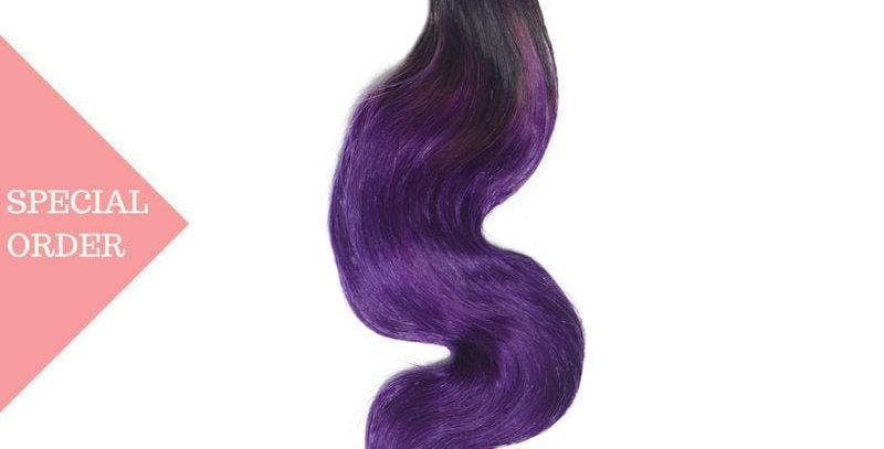Purple Ombre Body Wave Bundles