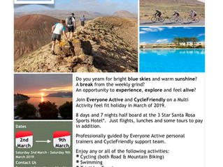 Lanzarote 2019 - Activity & Agenda