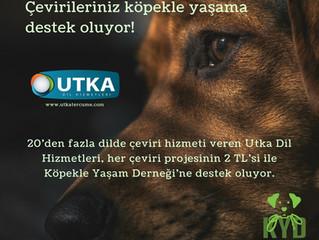 Utka Dil Hizmetleri ile çevirileriniz Köpekle Yaşam'a destek veriyor!