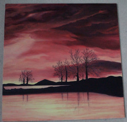 Golden Sunrise_50x50_Oil on Canvas Board