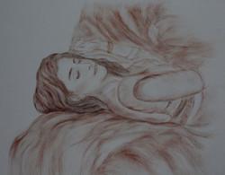 Dream Girl_30x42_Sanguine On Paper