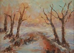 Snow-at-Sunset---Sylvia-Kingsley