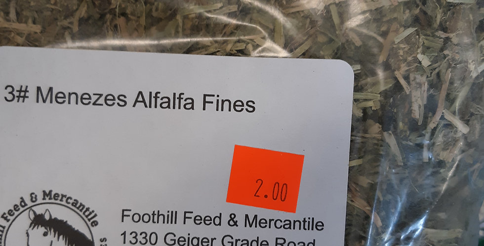 Alfalfa Fines - by the pound