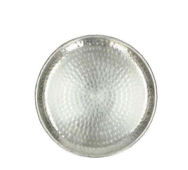 Μεταλλικός δίσκος ασημί χρ.,24cm | ZAROS