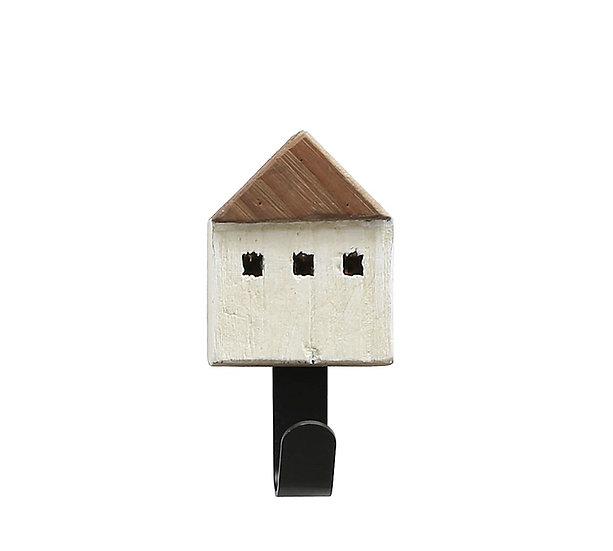 Κρεμάστρα/γάντζος σχ.σπιτάκι ξύλινο 6.5x13cm | ZAROS