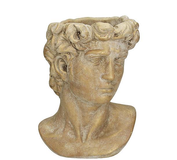 Τσιμεντένιο κασπώ αρχαία προτομή, σε πατίνα χρυσό,23cm | ZAROS