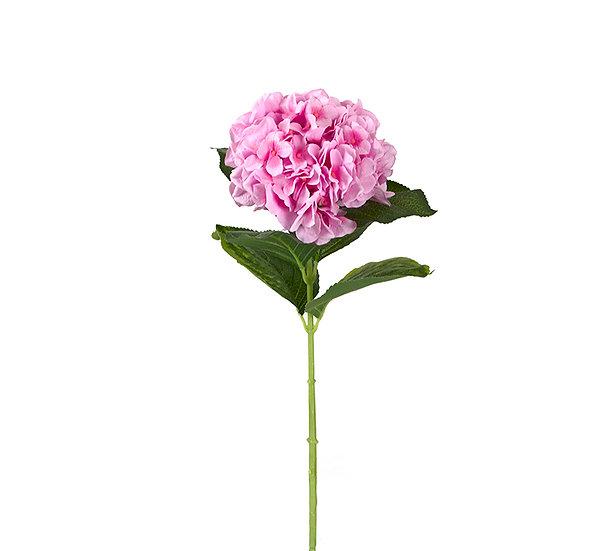 Μεγάλη ροζ ορτανσία με 6 φύλλα,80cm | ZAROS