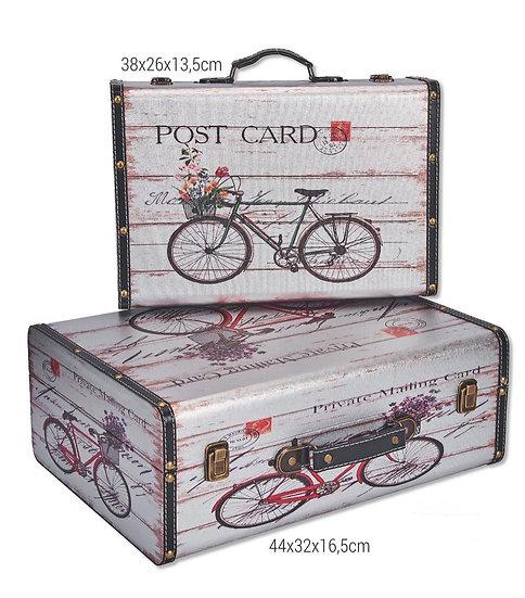Ξύλινη βαλίτσα ποδήλατο