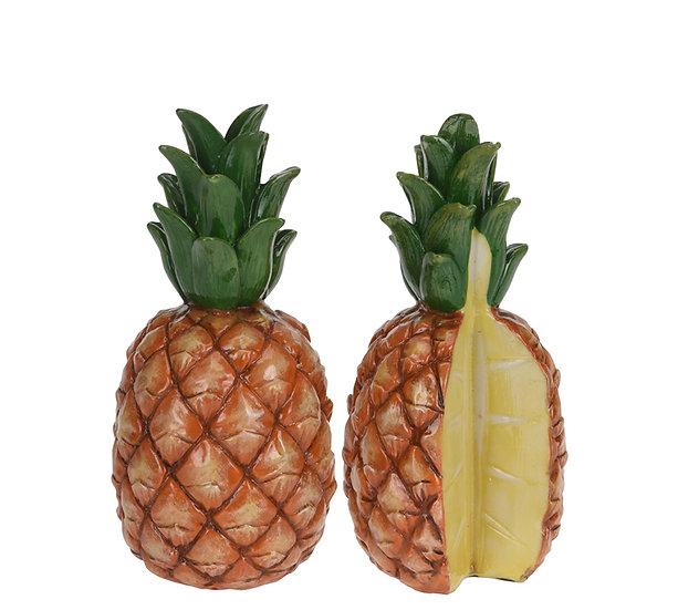 Κεραμικός διακοσμητικός ανανάς σε 2 σχέδια, 17cm | ZAROS