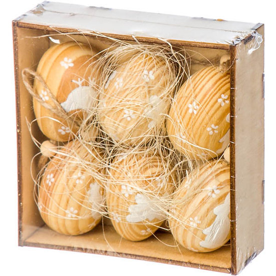 Αβγουλάκια ξύλινα σετ των 6.