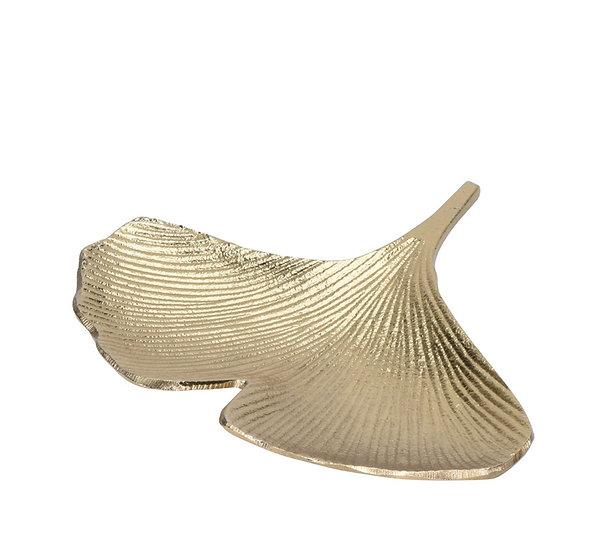 Μπολ σχ.φύλλο Gingko, αλουμίνιο χρυσό,23cm | ZAROS