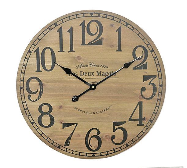 Ρολόι τοίχου MDF σε απομίμηση ξύλου, 60cm | ZAROS