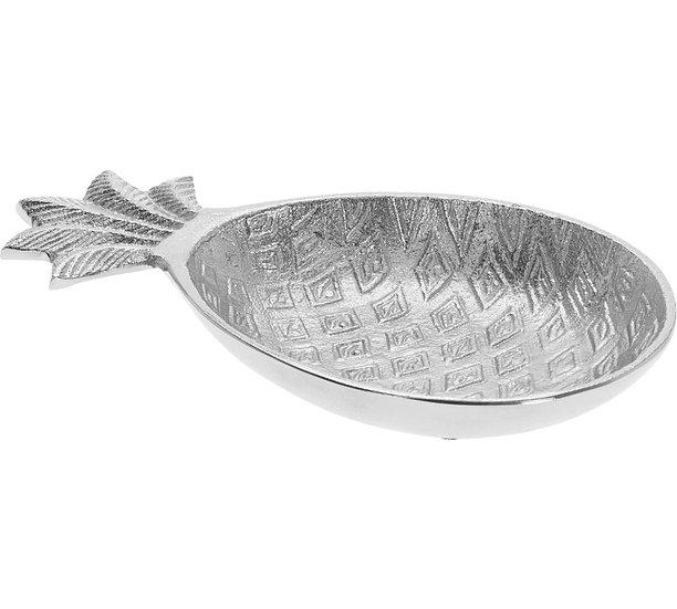 Μπολ σχ.ανανάς από αλουμίνιο, ασημί 20x12cm | ZAROS