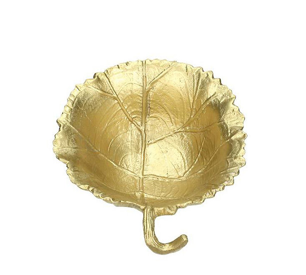 Μπωλ σχ.φύλλο από αλουμίνιο ματ χρυσό, 17x15cm | ZAROS