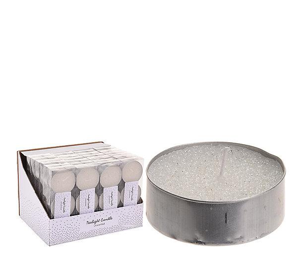 Σ/3 μεγάλο κερί ρεσό 6cm, λευκό glitter. | ZAROS