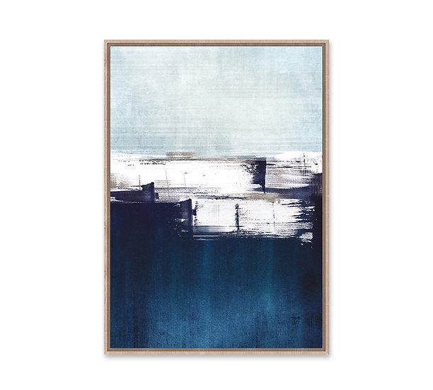 Πίνακας , αφηρημένο σχ. Μπλε/λευκό,κορνίζα MDF,60x90cm | ZAROS