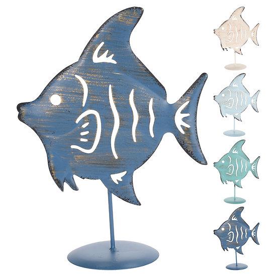 JK Ψάρι μεταλλικό σε βάση