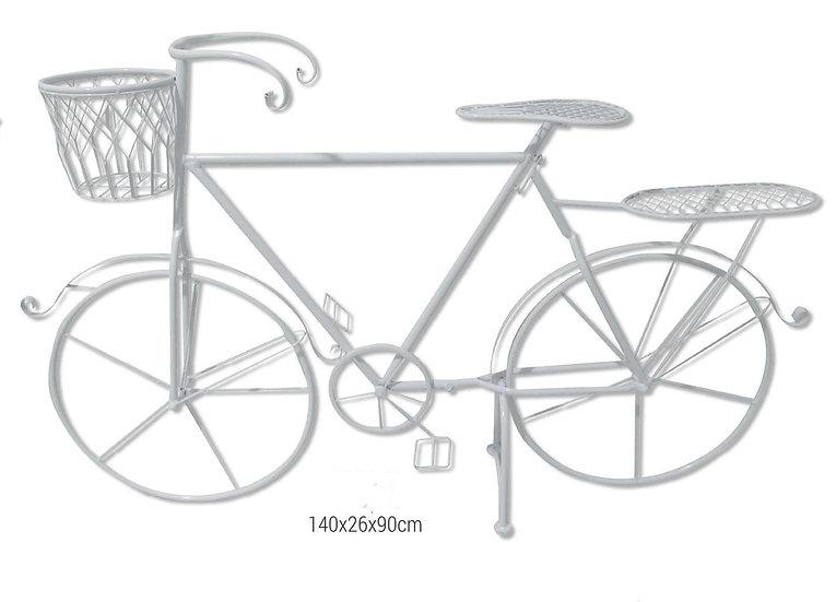 Λευκό μεταλλικό ποδήλατο