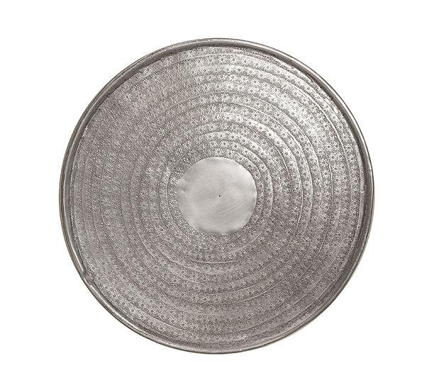 Σφυρήλατος δίσκος αλουμινίου, ματ ασημί,38cm | ZAROS