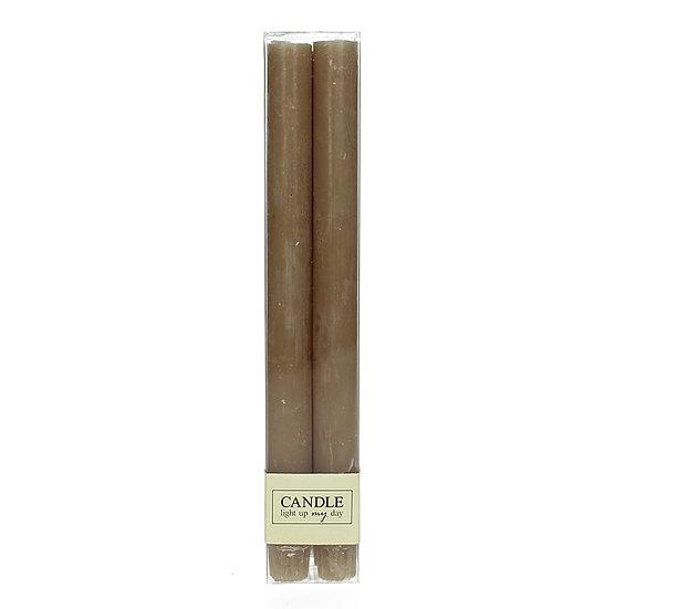 Κερί βιέννης Σ/4 σαγρέ, καφέ/γκρι, 27cm | ZAROS