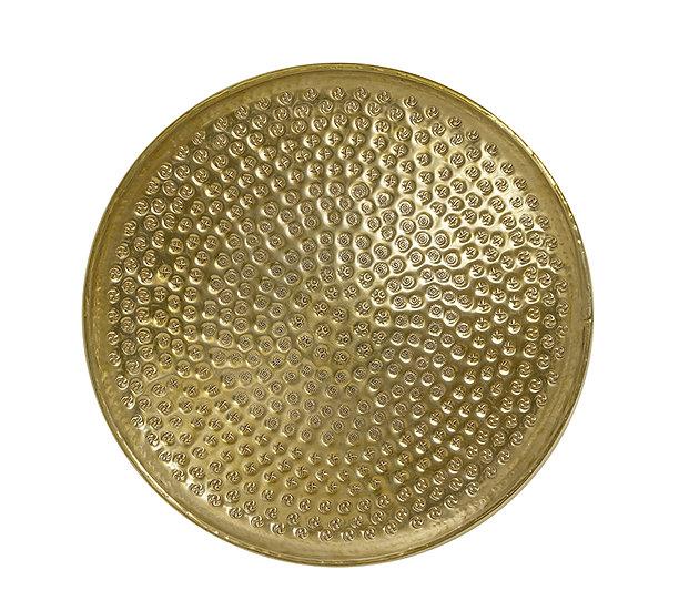 Σφυρήλατος δίσκος αλουμινίου,χρυσό χρ.,48cm | ZAROS
