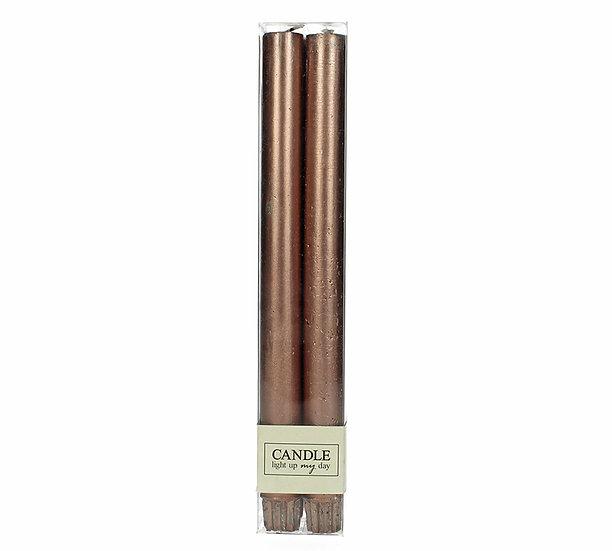 Κερί βιέννης Σ/4 σαγρέ, καφέ μεταλ/κο, 27cm | ZAROS