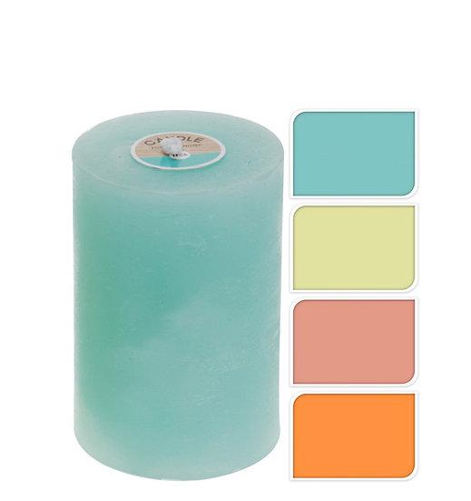 Κερί κορμός με ρουστίκ υφή,σε 4 Boho χρώματα, 7x10cm | ZAROS