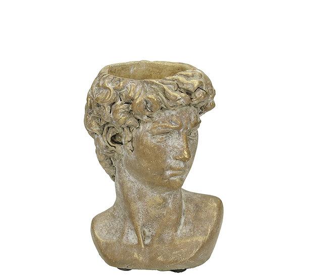 Τσιμεντένιο κασπώ αρχαία προτομή, σε πατίνα χρυσό,14.5cm | ZAROS