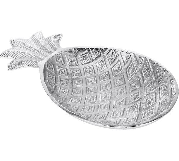 Μπολ σχ.ανανάς από αλουμίνιο, ασημί 32x18cm   ZAROS