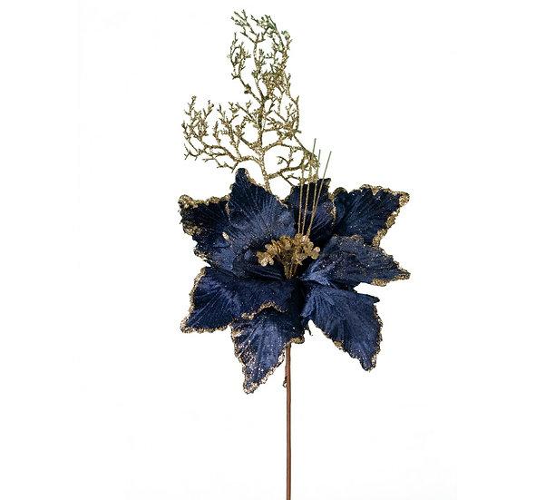 Κλαρί αλεξανδρινό λουλούδι, μπλε royal βελούδο   ZAROS