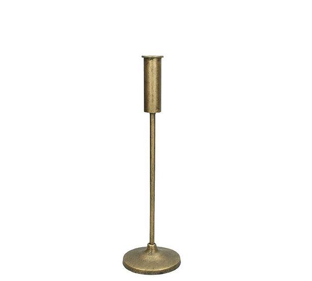Μεταλλικό λεπτό κηροπήγιο, χρυσό 32cm | ZAROS