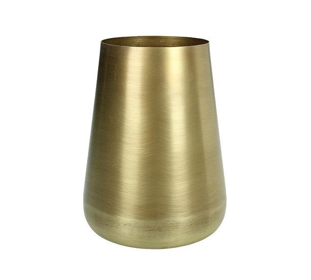 Μικρό μεταλικό βάζο σε ματ χρυσό χρ., 11.5x15cm | ZAROS