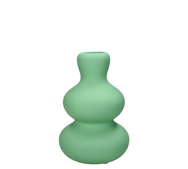 """Κεραμικό βάζο """"minimal"""",ματ μέντα,19,7cm   ZAROS"""