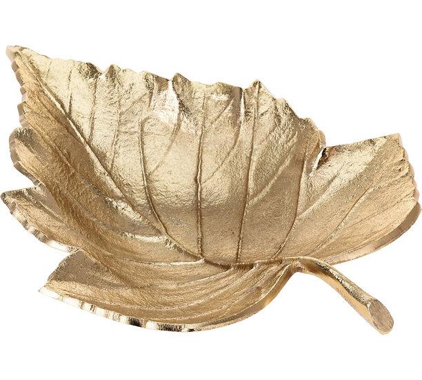 Μπολ σχ.αμπελόφυλλο, αλουμίνιο χρυσό,33cm | ZAROS